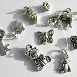 "AS 9st Hängen SET Mellandelar Charms Pendants Berlocker: "" Schäfer Hund / Varg"""