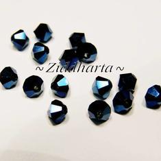 Swarovski Bicone 4mm Crystals - Metallic Blue 2x - 8st