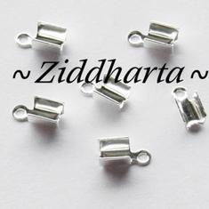 6 Hållare Smyckesband 'Small' SP ca 7x3mm - SP