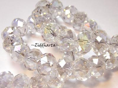 Lyx kristall - Kristall-pärla - Crystal AB 10x8mm Rondell