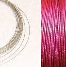 2,2m Wire 0,38mm: Orchidea Intensivt Rosa + 20 SP klämpärlor