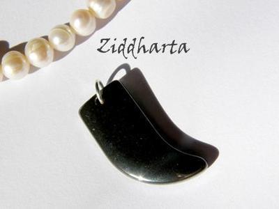 1st Hematit-hänge - HajTand ca27x15mm