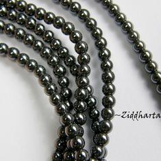 10st Hematit-pärla - 3mm RUND