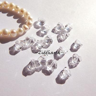 Swarovski Crystals Hearts 8mm LOVE slipat Hjärta: Crystal Clear