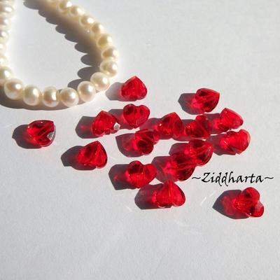 Swarovski Crystals Hearts 8mm LOVE slipat Hjärta: SIAM