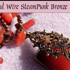 #DIY Videos Pärlor & glaspärlor - Smyckestillverkning: Enkelt använda 2 wires  / smyckes vajer