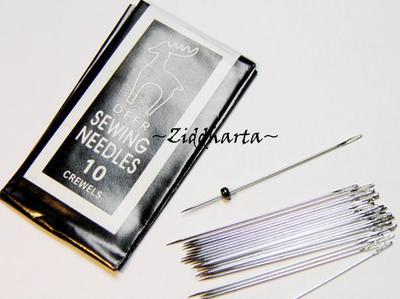"""5st Pärl-Nålar """"sharps"""" - går igenom 2mm seedbeads! Pärlnålar"""