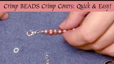 #DIY Videos #Smyckestillverkning Pärlor & glaspärlor: Avsluta halsband och armband snyggt, snabbt & enkelt med Klämpärlor och Crimp Covers!