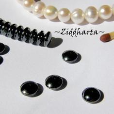 10st Hematit-pärla - 6mm RONDELLER
