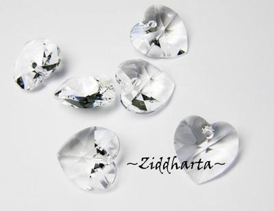 Swarovski 10mm HJÄRTA - Crystal