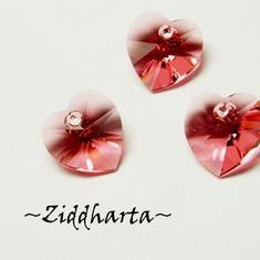 Swarovski 10mm HJÄRTA - Indian Pink