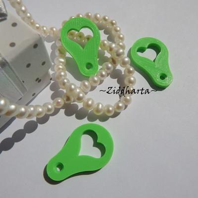 3st Neon Grön #22: Mynt-hjärtat till kundvagnen - finaste varuvagns-poletten ever!