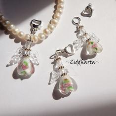 1st Ängla-hängen: Vit VITT White GS Crystal Clear Wings Handmade Angels