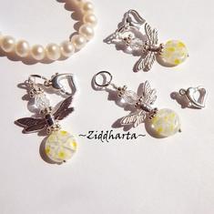 1-2-3st Ängla-hänge: LEMON Millefiori pärla - Ängel - Handmade Angels by Ziddharta