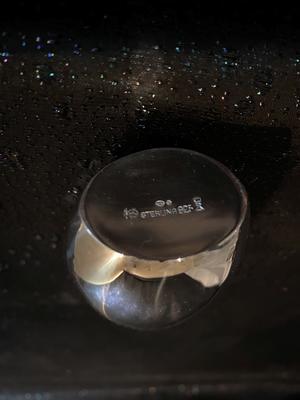 Vas -Rosvas  i Äkta Sterling silver .Ny från -50talet