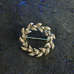 Brosch i silver med markasiter från -50talet