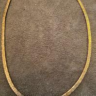 Halsband i äkta förgyllt sterling silver . 42cm långt