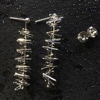 Örhängen i äkta silver   Stämplade med svenska stämplar,925 sterling silver