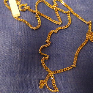 Guldförgylld kedja.Modell Pansar 42cm