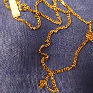Guldförgylld kedja.Modell Pansar 45cm