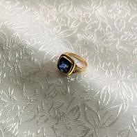 Ring med blå safir.18Karat guld. . 1959. St  16,5