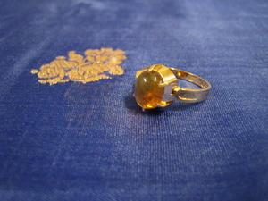 Ring i 18 Karat guld med gultopas