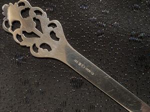 Brevkniv i äkta silver. Viking Rose Th Martinsen Norge Storlek: 200mm lång.