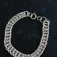 Armband i äkta silver ,Pansar.19cm. 1950talet