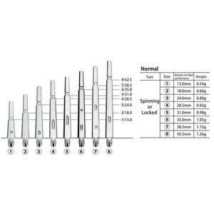 Cosmo Fit Shafts Gear Normal Spinning Svart Storlek 8 - 42,5mm