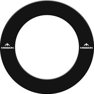 Mission Dartboard Surround  with Logo  Black