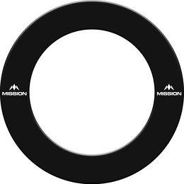 Mission Dartboard Surround  with Logo  Black