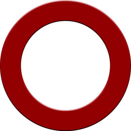 Mission Dartboard Surround  Red