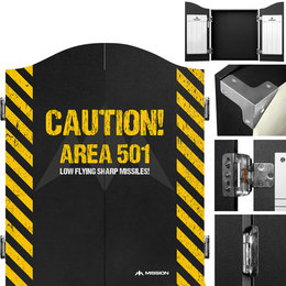 Mission Darttavla Cabinet Area 501 - Caution