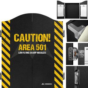 Mission Darttavla Cabinet Area 501 - Caution