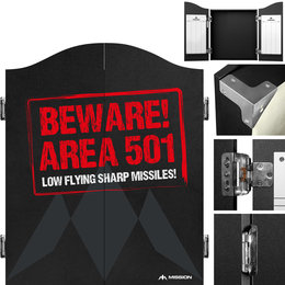 Mission Darttavla Cabinet Area 501 - Beware