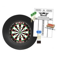 Bulls Surround Dartboard  Starter Set Black