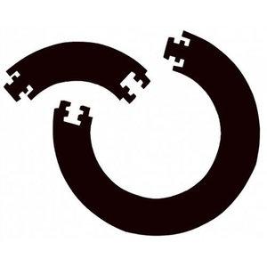 Bulls Jigsaw Väggskydd Svart