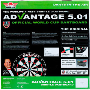 Bulls Dartboard Advantage 5.01 Incl. rotating bracket