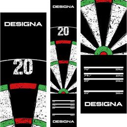 Designa Dartboard 20 Design Carpet Dart Mat290x60