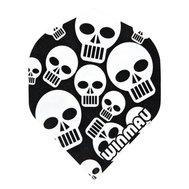 Winmau Mega Standard Black & White Skulls