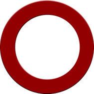 Designa Dartboard Surround  Red