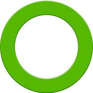Designa Dartboard Surround  Green