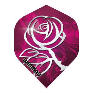 Winmau Mega Standard Pink & Silver Rose