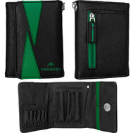 Mission Flint Darts Wallet  Black & Green
