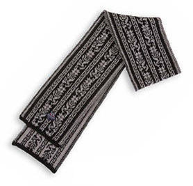 Selje Scarf - Grey & Black