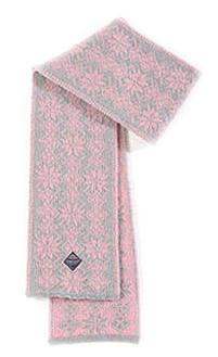 Ulvik Scarf - Pink & Light grey