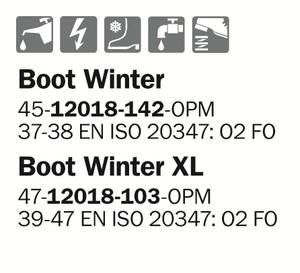 Stövel Läder Boot Winter Xl