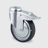 Hjul ESD, 75 mm med bygel med broms