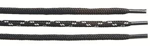 Skosnören svart/grå 120 cm
