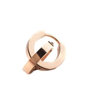 VÅGA smycken, örhängen creol liten, rose